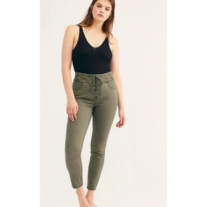 Free People Lace Up skinny Jeans